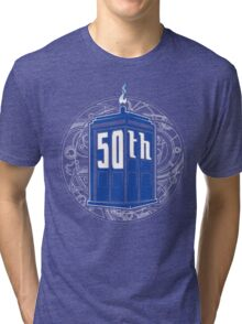 Happy 50th Tardis Tri-blend T-Shirt