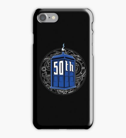 Happy 50th Tardis iPhone Case/Skin