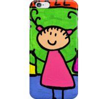 Happi Arti 5 - Shopaholic Little Girl Art iPhone Case/Skin