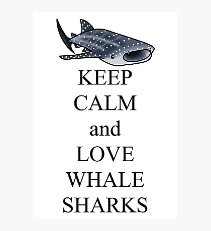 Keep calm and love whale sharks Photographic Print