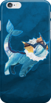 Vaporeon Silhouette by cluper