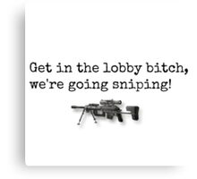We're Going Sniping! Canvas Print