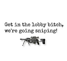 We're Going Sniping! Photographic Print