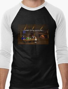 I want to be a pirate! (Monkey Island 2) Men's Baseball ¾ T-Shirt