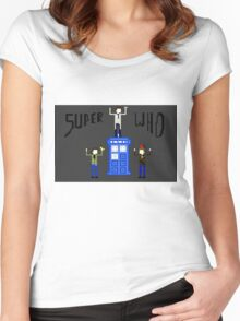 Supernatural And The Tardis Women's Fitted Scoop T-Shirt