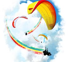 Hang gliding Rainbows by PolySciGuy