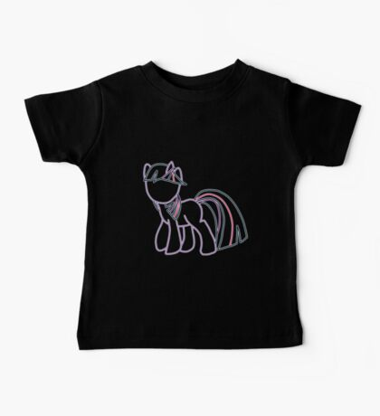 Twlight Sparkle Outline Baby Tee
