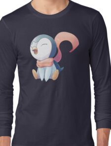 Winter Scarf Piplup Long Sleeve T-Shirt