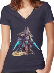 The Hierarch of the Daelaam Women's Fitted V-Neck T-Shirt