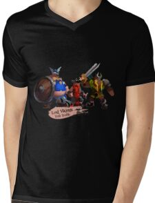 Triple Trouble Mens V-Neck T-Shirt