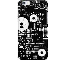 Motherboard Face - White on Black iPhone Case/Skin