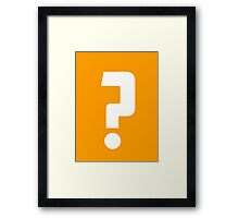 Question Mark - style 2 Framed Print