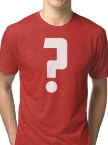 Question Mark - style 2 Tri-blend T-Shirt
