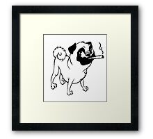 Smokin' Pug Framed Print