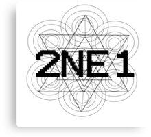 2NE1 - Black Canvas Print