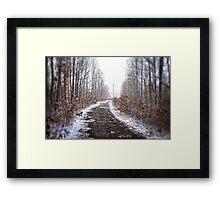 Old Snow Road HDR Framed Print
