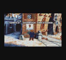 Wanted Guybrush Threepwood! (Monkey Island 2) Kids Tee