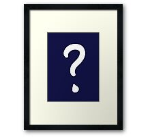 Question Mark - style 1 Framed Print