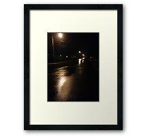 Lonely Walk Framed Print