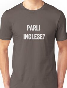 Do you speak English? (Italian) White Unisex T-Shirt