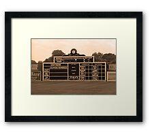 Vintage Baseball Scoreboard Framed Print
