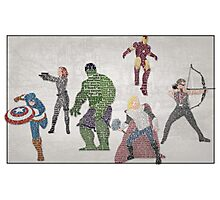 The Avengers Typography - Movie Quotes Photographic Print
