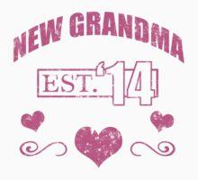 New Grandma 2014 (Grunge) T-Shirt by thepixelgarden