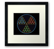 Toxic Tri-force Framed Print