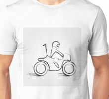 Man on a scooter  Unisex T-Shirt