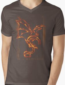Fire and Death Mens V-Neck T-Shirt