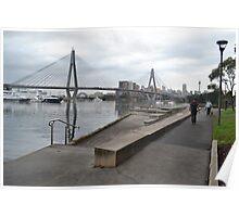 Anzac Bridge, Blackwattle Bay, Sydney Poster