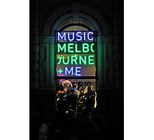 Music, Melbourne & Me Photographic Print