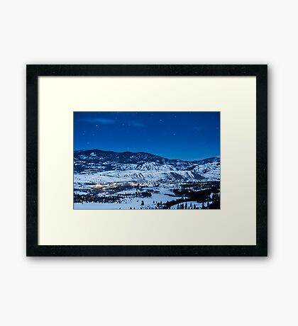Night Sky Over Winthrop, Washington and the Methow Valley Framed Print