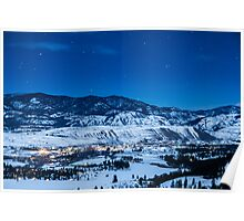 Night Sky Over Winthrop, Washington and the Methow Valley Poster