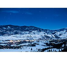 Night Sky Over Winthrop, Washington and the Methow Valley Photographic Print