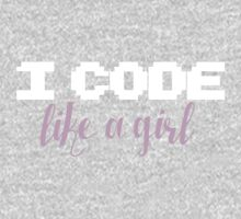 I code like a girl One Piece - Short Sleeve