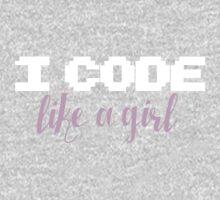 I code like a girl One Piece - Short Sleeve
