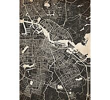 amsterdam map ink lines Photographic Print