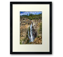 Feather Falls Framed Print