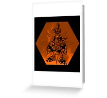 Flamedramon The Fire Of Courage Greeting Card