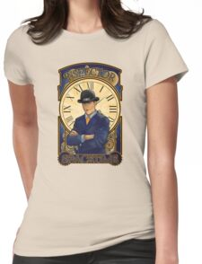 Inspector Spacetime Nouveau Womens Fitted T-Shirt