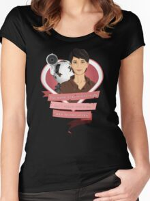 I Choose Curie Women's Fitted Scoop T-Shirt