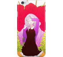 Girl in the garden iPhone Case/Skin