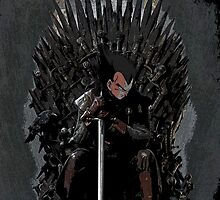 Vegeta Iron Throne- Game of Thrones by rav9000