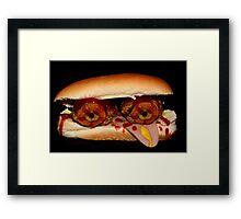 Sore Eyed Monster Sandwich Framed Print