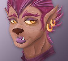 Purple WereWolf by CraftingLindsey