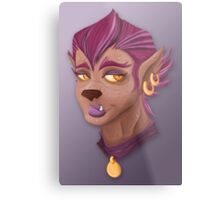 Purple WereWolf Metal Print
