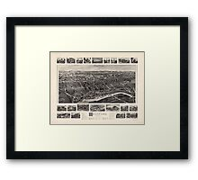 Bird's-eye view Map of Branford Connecticut (1905) Framed Print