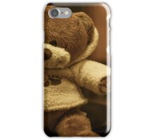 Brown bear with a brown bear's nose iPhone Case/Skin