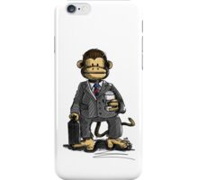 The Business Monkey drinks a coffee to go iPhone Case/Skin